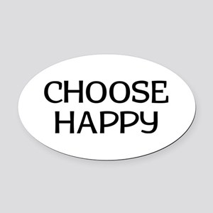 Choose Happy Oval Car Magnet