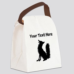Fox Silhouette Canvas Lunch Bag