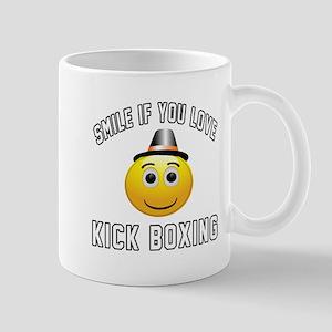 Kick Boxing Smiley Sports Designs Mug