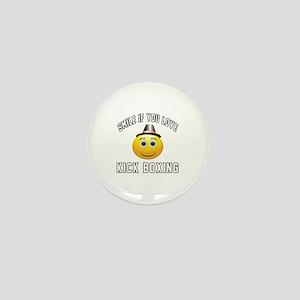 Kick Boxing Smiley Sports Designs Mini Button