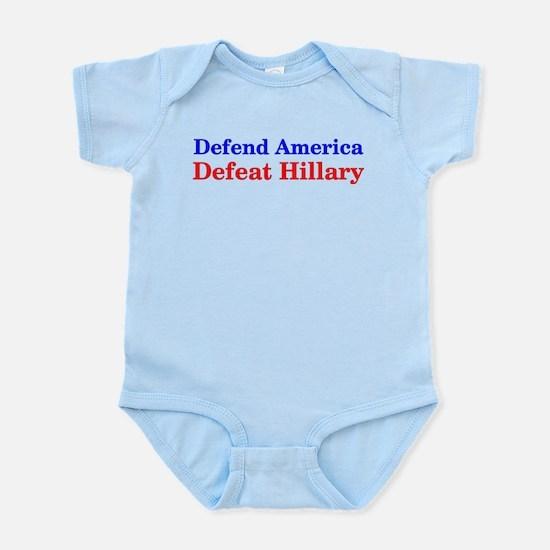 Defend America Defeat Hillary Body Suit