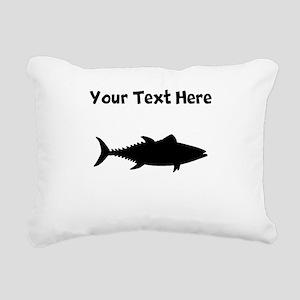Tuna Fish Silhouette Rectangular Canvas Pillow