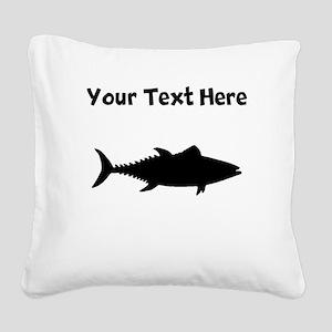 Tuna Fish Silhouette Square Canvas Pillow