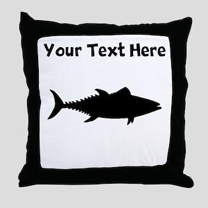 Tuna Fish Silhouette Throw Pillow