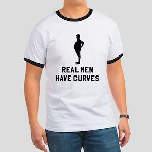 Real men have curves Ringer T