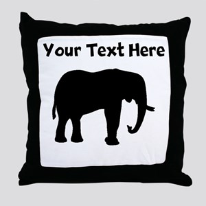 Elephant Silhouette Throw Pillow