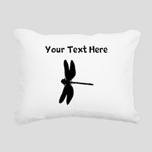 Dragonfly Silhouette Rectangular Canvas Pillow