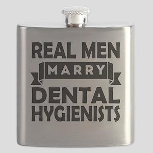 Real Men Marry Dental Hygienists Flask