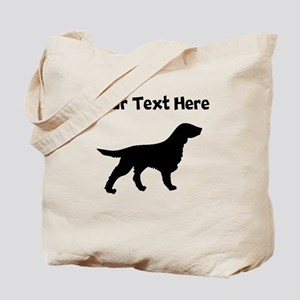Flat-Coated Retriever Silhouette Tote Bag