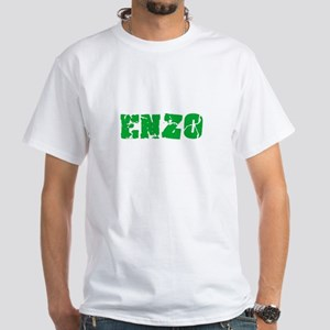 Enzo Name Weathered Green Design T-Shirt