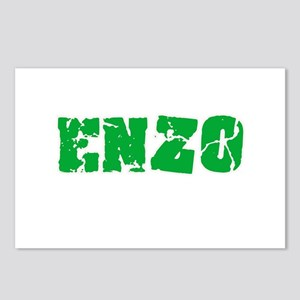 Enzo Name Weathered Green Postcards (Package of 8)