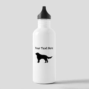 Flat-Coated Retriever Silhouette Water Bottle