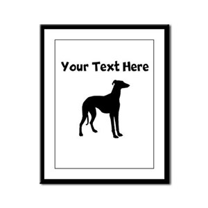 Greyhound Silhouette Framed Panel Print