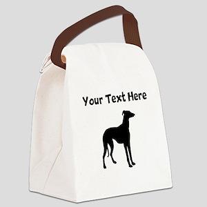 Greyhound Silhouette Canvas Lunch Bag
