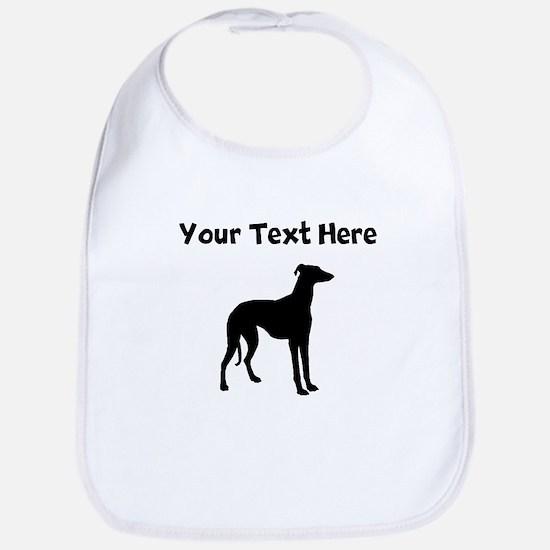 Greyhound Silhouette Bib