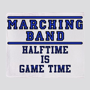 Halftime Is Game Time Throw Blanket