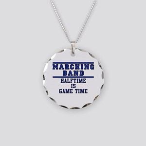 Halftime Is Game Time Necklace Circle Charm