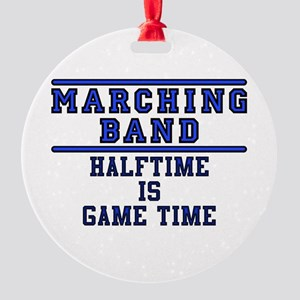 Halftime Is Game Time Round Ornament