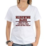 Football On Our Field Women's V-Neck T-Shirt