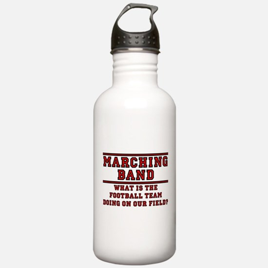 Football On Our Field Water Bottle