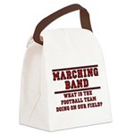 Football On Our Field Canvas Lunch Bag