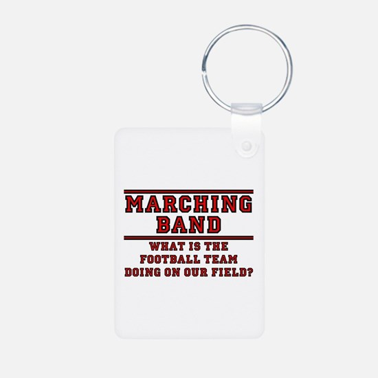 Football On Our Field Aluminum Photo Keychain