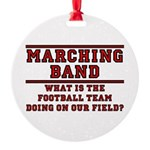 Football On Our Field Round Ornament