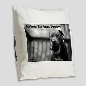 Boomer Pure Love Burlap Throw Pillow