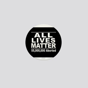 All Lives Matter Pro-Life Statistic Mini Button