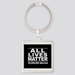 All Lives Matter Pro-Life Statistic Keychains
