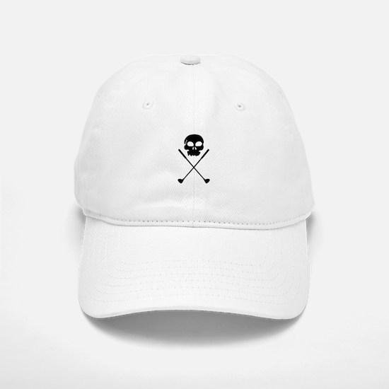 Golf Skull Crossed Clubs Baseball Baseball Baseball Cap