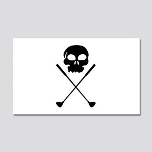 Golf Skull Crossed Clubs Car Magnet 20 x 12