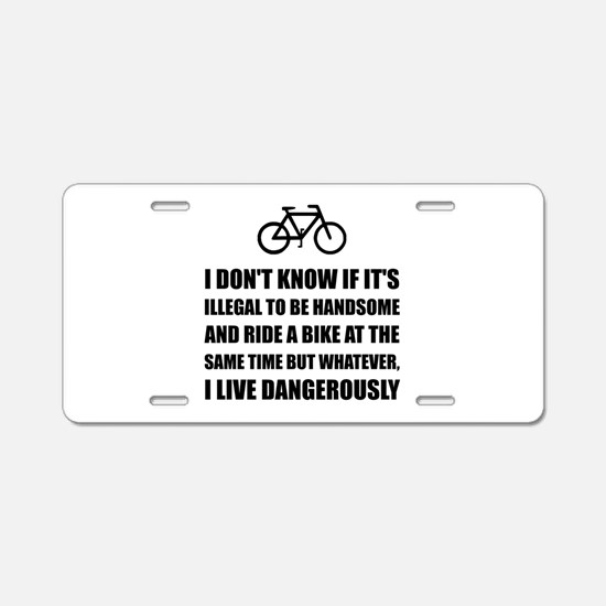 Handsome Ride Bike Aluminum License Plate