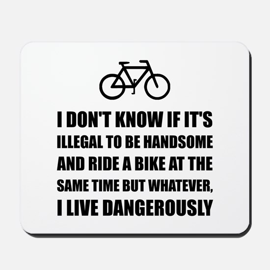 Handsome Ride Bike Mousepad