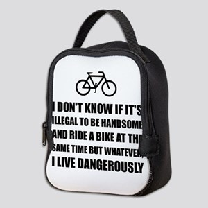 Handsome Ride Bike Neoprene Lunch Bag