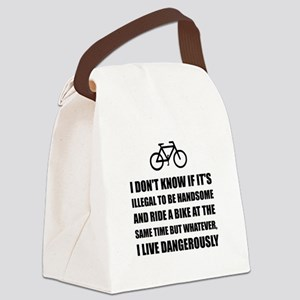 Handsome Ride Bike Canvas Lunch Bag