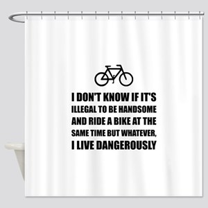 Handsome Ride Bike Shower Curtain