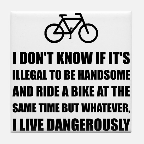 Handsome Ride Bike Tile Coaster