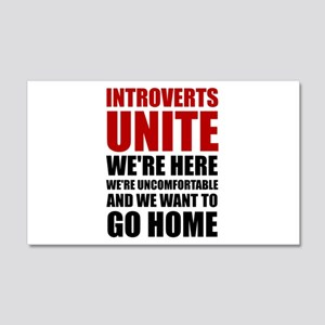 Introverts Unite Wall Decal