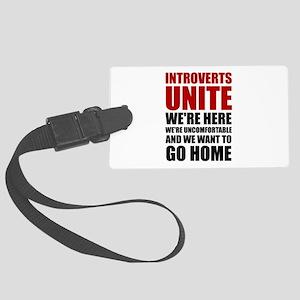 Introverts Unite Luggage Tag