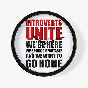 Introverts Unite Wall Clock