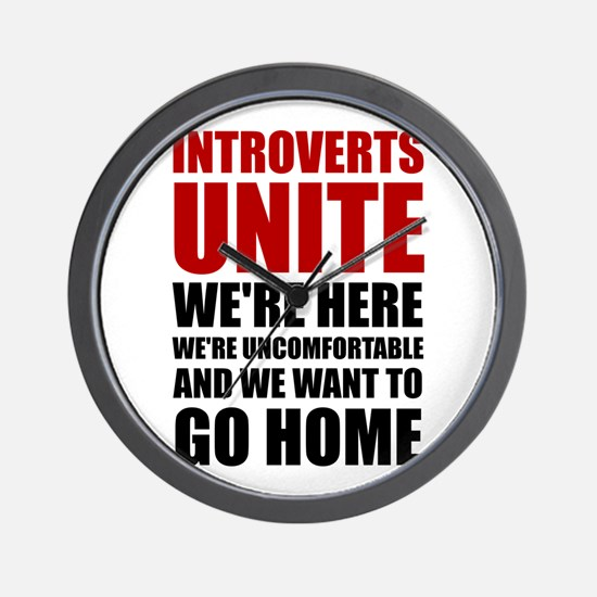 Introverts Unite Wall Clock