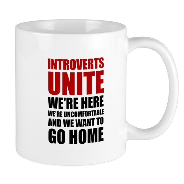 Introverts Unite Mugs by ACupOfTees