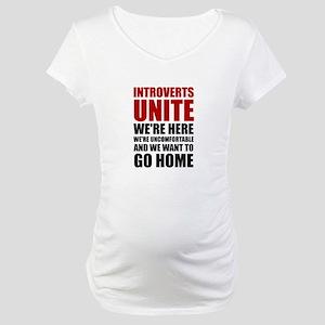 Introverts Unite Maternity T-Shirt