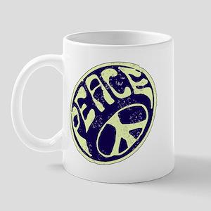 Vintage Peace Symbol #V9 Mug