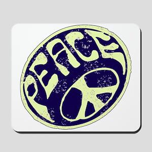 Vintage Peace Symbol #V9 Mousepad