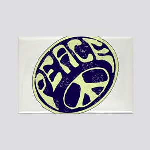 Vintage Peace Symbol #V9 Rectangle Magnet