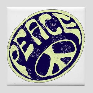 Vintage Peace Symbol #V9 Tile Coaster
