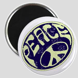 Vintage Peace Symbol #V9 Magnet