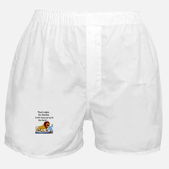 Lion and Dentist - Toothache and Hunt Boxer Shorts